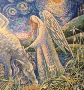 Ангел картина 1м 20 на 80