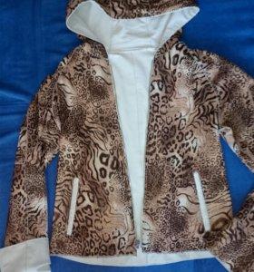 Куртка из натуральной кожи двусторонняя 44-46 р-ра