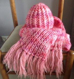 👒👧🏼🎀Шапка +шарф(комплект )