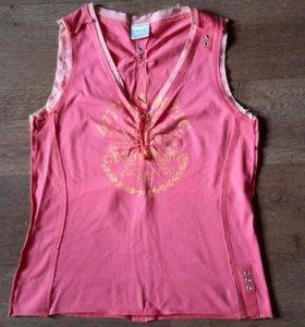 Розовая майка фирмы Next. Б / У. Размер 46-48.