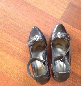 Туфли кожаные  размер 39-40