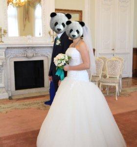 Свадебное платье 42-44 размера