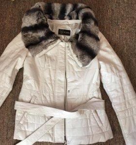 Кожаная утеплённая куртка Acasta размер М