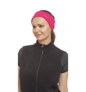 Утепленная широкая повязка для волос с вышивкой