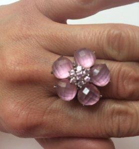 Кольцо серебро с полудрагоценными камнями