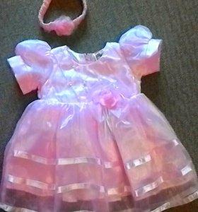 Нарядное платье 68 см
