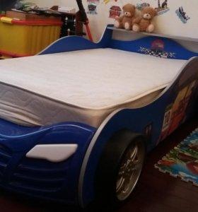 Кровать-машина Тачки.Матрац