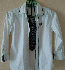 Рубашка Kiabi 100 %хлопок р.128-134