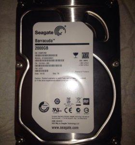 HDD жёсткий диск seagete 2tb