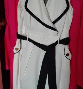 Платье морячка, белое с синим
