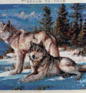 """Алмазная вышивка""""Волки"""""""
