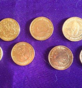 Юбилейные датские монеты 10 крон