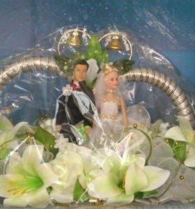 Свадебные кольца на автомобиль