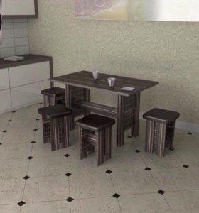 Стол + 4 табуретки