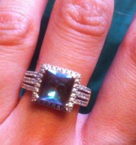 Кольцо серебро 925,