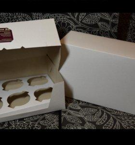 Коробка белая для капкейков