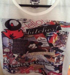 Укорочённая футболка топ 40/42 размер