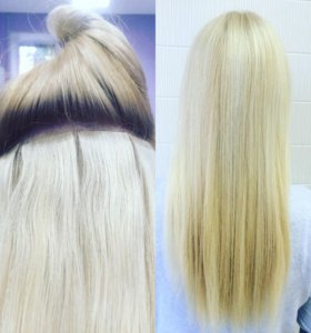 Наращивание волос,ленточное,капсульное.