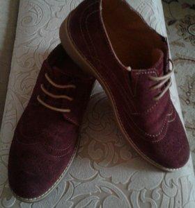 Туфли на мальчика из натуральной замши р.35