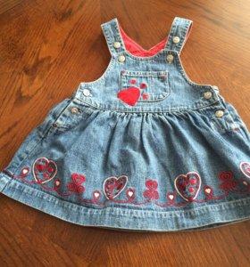 Сарафан Ladybird джинсовый 68 74