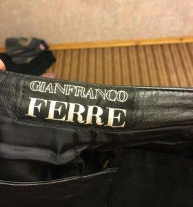 Натуральные кожаные брюки