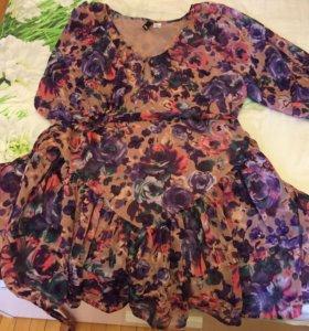 Платье 46-48 короткое новое