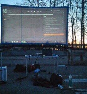 Аренда надувного экрана и проектора