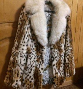 Шуба рысивидный кот( оцелот)