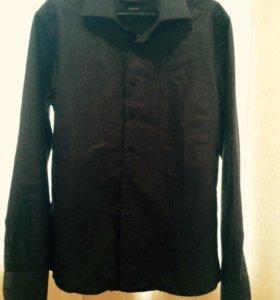 Рубашка мужская чёрная р.46-48