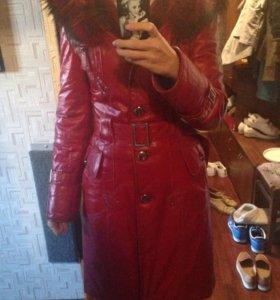 Пальто кожа Belgins