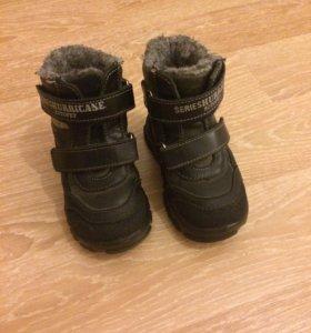 Ботинки зимние натур кожа,натур мех