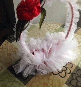 Корзина для шомпанского,подарков на свадьбу