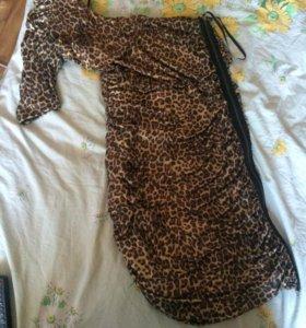 Шикарное леопардовое платье!