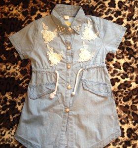 Джинсовое платье 110-122