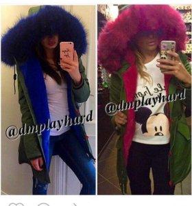Куртка Парка-синяя!!!