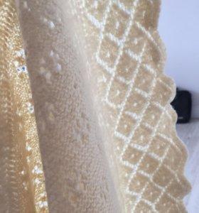 шаль, натуральная шерсть