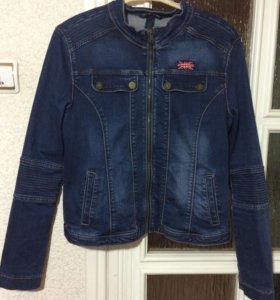 Джинсовая куртка , размер 48