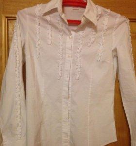 Белая блузка- рубашка новая 44 р
