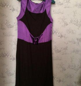 Платье черно-фиолетовое