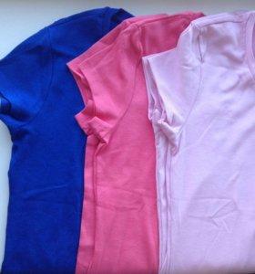 Базовая футболка розовая на 42-46