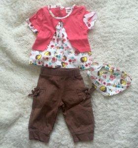 Новый комплект для девочки 4-6 месяцев