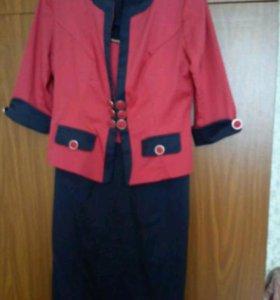 Платье с риджаком