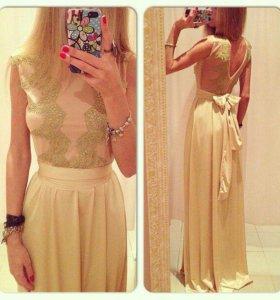Платье новое золотой песок