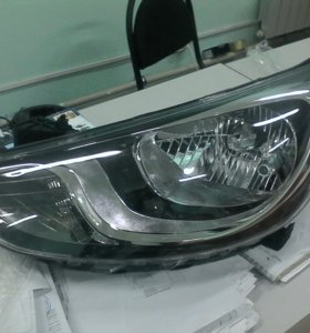 Фары не оригинал на Hyundai SOLARIS (RB)