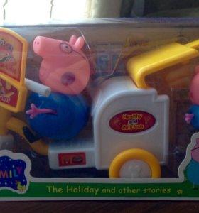 Свинка Пеппа на мото