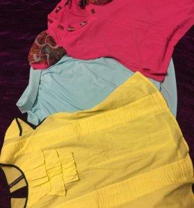 Яркие блузы, 46 размер