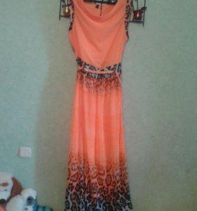 Новое турецкое шифоновое платье 42-46