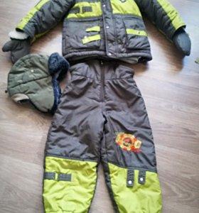 Куртка, штаны, варежки и шапка зимние