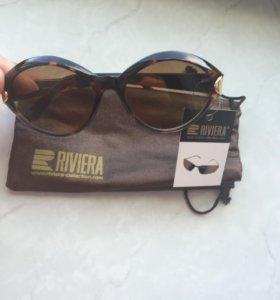 Новые очки от солнца с биркой и чехлом