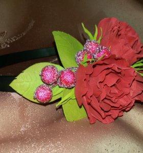 Ободок из цветов ручной работы